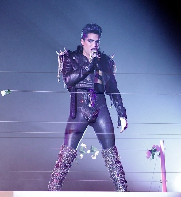 Adam lambert's having time with topless guy in public photos revealed