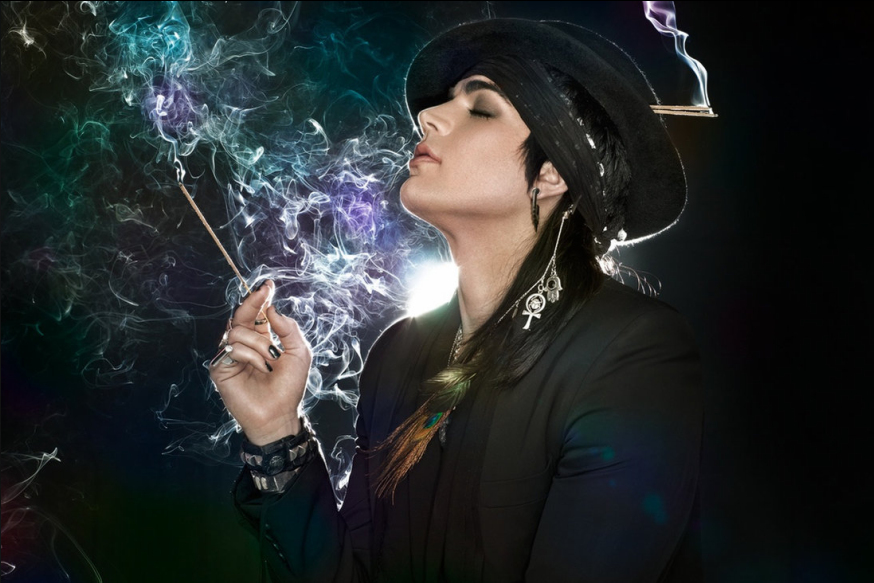 adam lambert smoking