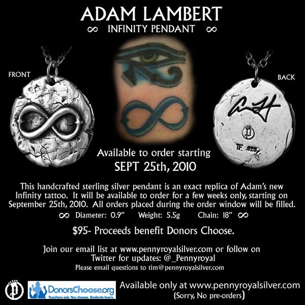 Adam Lambert Infinity pendant Infinitypendant