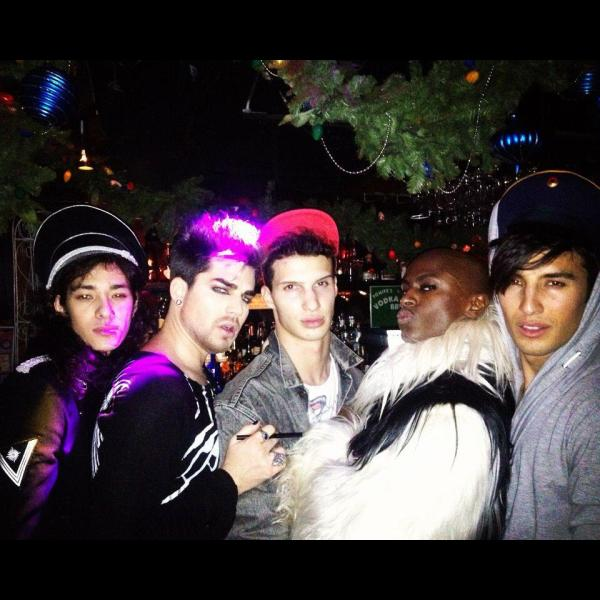 Via Alek Sandar  on Facebook:Partying with Adam Lambert, Jonte and Ansoni (Boyplay)