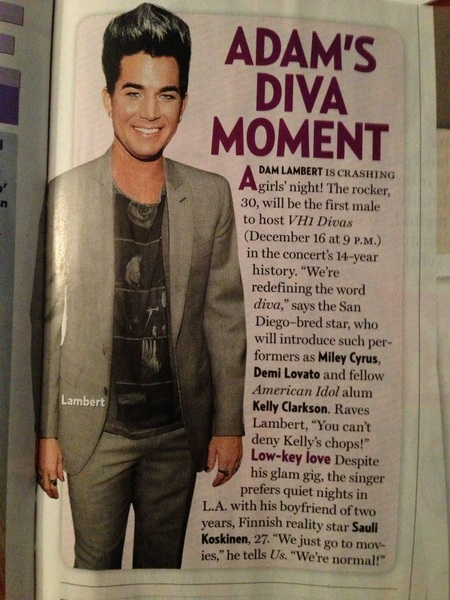 Adam In US Weekly Scan via Becca on Mobypicture