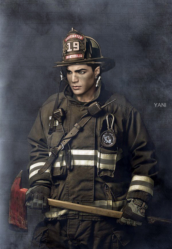 Via glam_alidol alidol Fireman @adamlambert (shopped by yani)