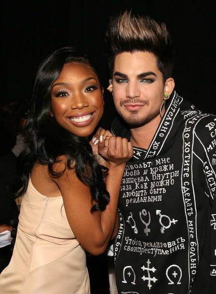 Angie_Jay Brandy | Two Eleven  PHOTO: @4everBrandy and Adam Lambert Backstage #VH1Divas