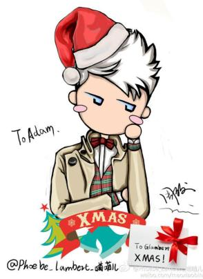 @glam_alidol: another cute fan art by phoebe @adamlambert (Christmas) 12-25-12http://pic.twitter.com/IFenj59l