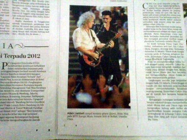 @sosolichahyeah (Bali): Adam Lambert's article in our local newspaper #1 http://pic.twitter.com/YgdiJZ4n