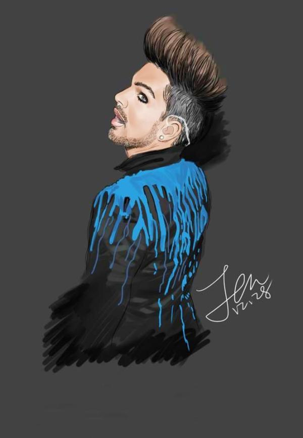 @Jen_Giada: @adamlambert do you like my paintings? http://pic.twitter.com/2xIEMYJw