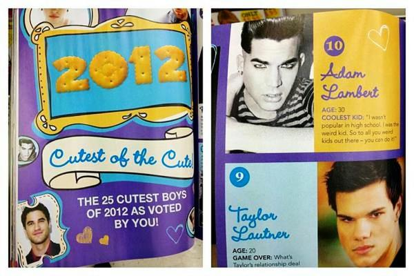 @LisaKomatsubara: @adamlambert is #10 in New Zealand's Creme Magazine's Top 25 Cutest Boys of 2012! http://pic.twitter.com/OJcxerjd