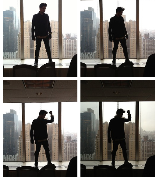 Credit: VH1 Tumblr: A little behind the scenes on how we got a cool silhouette shot with Divas host Adam Lambert.