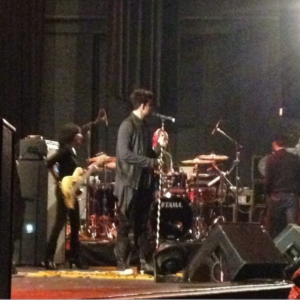 @JonManuelAdam Lambert soundcheck. #star1013jingleball @ The Warfield Theatre http://instagr.am/p/TPcJnPBxez/