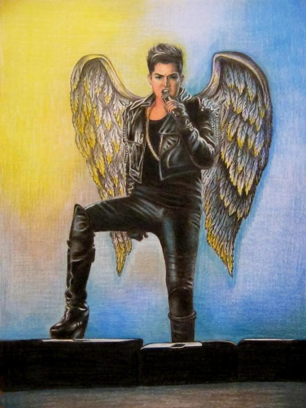 Via Oksana 9 Dec@adamlambert Beautiful magic angel. Your Glamberts waiting for you in Ukraine