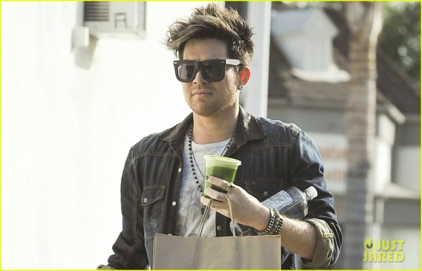 EXCLUSIVE: Adam Lambert at M Cafe
