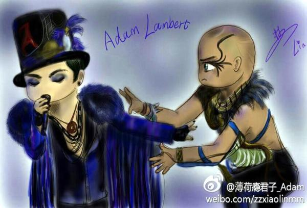 @glam_alidol on Weibo: new cute ADAM LAMBERT fan art by bohe @adamlambert @LoveMrSpencer …voodoohttp://ww1.sinaimg.cn/large/69c0d2fbjw1e0zixalb1pj.jpg