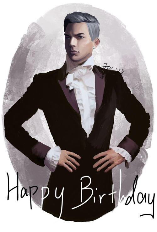 Fan Art by @Jen_Giada Happy Birthday Adam! - @adamlambert Nice.