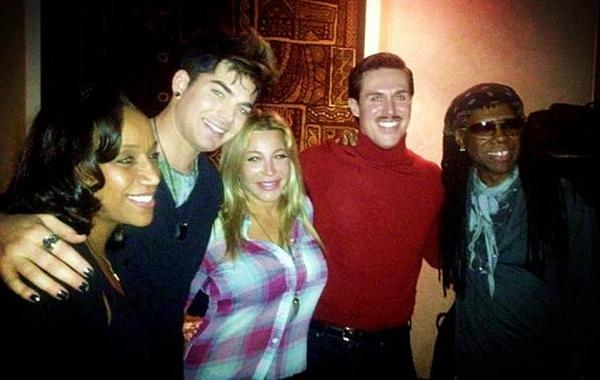 @FOLAMI: @Anjeebaby here is a picture : @nilerodgers @adamlambert @sam_sparro @taylor_dayne @kathysledge