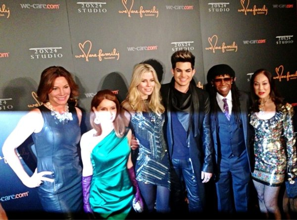 @WeCare: What an amazing group on the red carpet with @adamlambert right now at #WeAreFamily! pic.twitter.com/g52FL9AJ