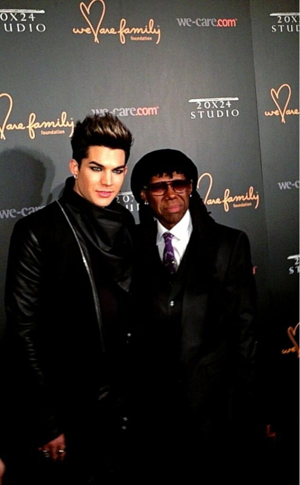 @WeCare: look who's here! @adamlambert is having fun on the red carpet at #WeAreFamily pic.twitter.com/VDXhdx6X