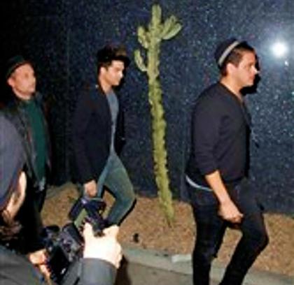 Pap Pics by isopix.be: Adam Lambert & Friend arriving at Bootsy Bellows! Feb 5 2013.