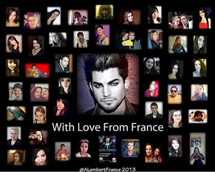 @ALambertFrance: @adamlambert Dear Adam, we have made a little surprise for you... Enjoy :) http://pic.twitter.com/PQdWR8OY