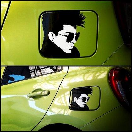 Photo Tweeted by @UKmix_tw: Adam Lambert Car Sticker for Gas Tank Door!! pic.twitter.com/fwvKTYWo1f http://