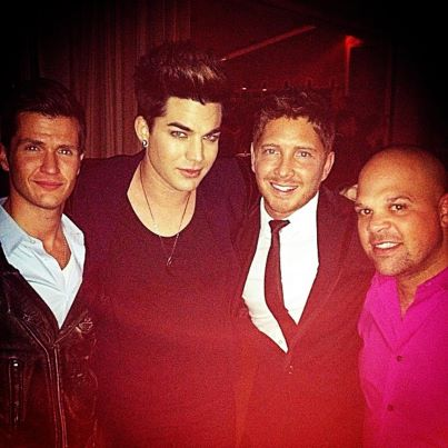 guyk24: Hanging with Adam Lambert at the CAA :Pre-Grammy Party last night.http://instagram.com/p/Vi8e_GGE6P/