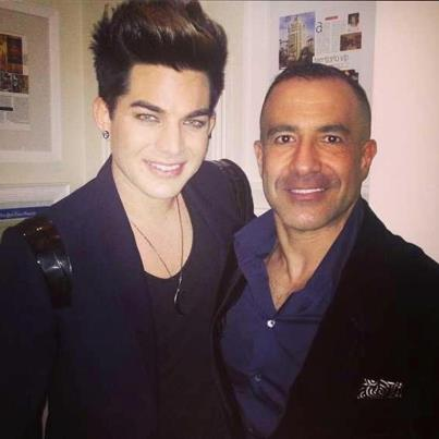 @DanielStisen:Adam lambert & my friend Zaydoon @ the Grammy party http://instagr.am/p/Vj2FuqI3Zv/