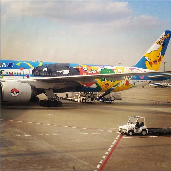 @adamlambert: Pokemon plane http://instagr.am/p/WBzOCzuNGr/