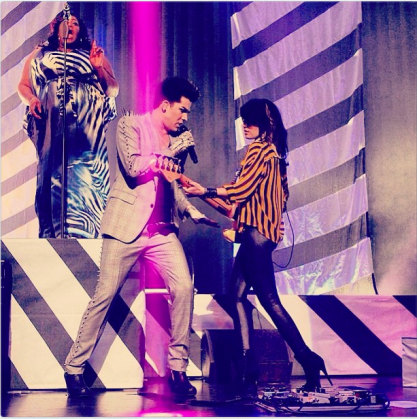 @KeishaRenee: Us doing what we love and do best!! @ashleydzerigian adamlambert #repost http://instagr.am/p/V3hElLlmuR/