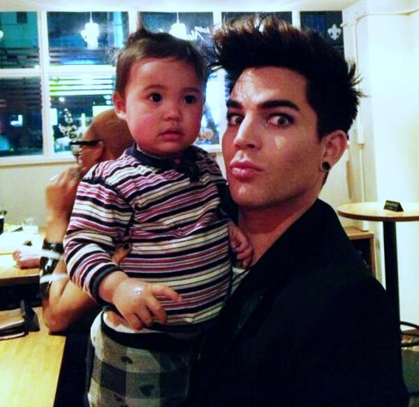 Is Adam running for President? He sure looks good with babies. In Japan at C.C.'s Restaurant via @hirokoinkobe http://pic.twitter.com/Zc8DVsi0tl