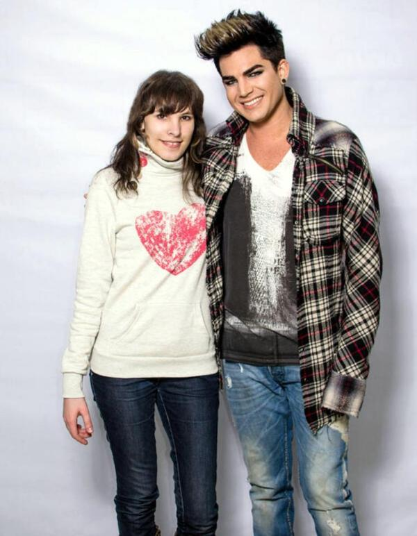 "@The_SoapBubble: Me and Adam <3333 ADAM LAMBERT in Kiev, Ukraine for his March 18 2013 We Are Glamily Tour Concert at the Palats Sportu Kyiv ""Palace of Sports"" arena.http://pic.twitter.com/BkzCMNSiKt"