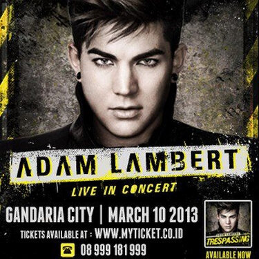 @INDOGLAM 4 days: ADAM LAMBERT IN JAKARTA !Can't wait to meet u all Glamberts @bigdaddyid Tickets @myticketID http://twitpic.com/c7nmad