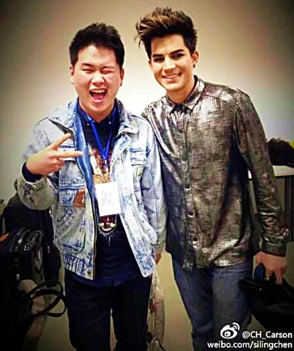 @hcluless: Adam is so nice, unbelievable handsome! Volunteer to take photo with us when he saw our cellphone. I'm craaaaazzzyyy http://pic.twitter.com/gx9vvrCWQq