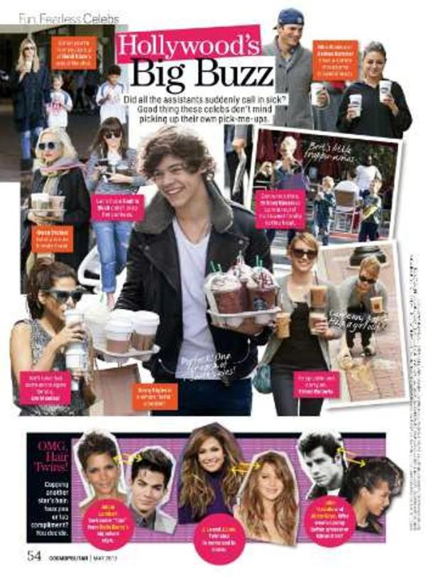 """@mmyy9: Cosmopolitan MAY 2013 Zinio Adam Lambert took some """"tips"""" from Halle Berry's signature style (hair)!"""