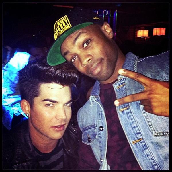 @toddyrockstar: Chillin with my home slice adamlambert last night in Weho. Miss him! http://instagram.com/p/Y-wmqTQ8cf/