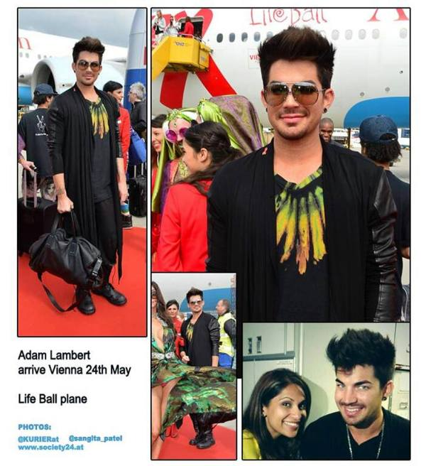 Collage by @essellsari: May 24th. #adamlambert arrives in Vienna #LifeBall plane #Vienna #LifeBall2013 http://pic.twitter.com/p3LOdtUFKE