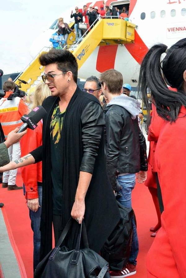 #LifeBall2013 Interview Pic of ADAM LAMBERT by #LifeBall Community Blogs: Just Arrived in Vienna for #LifeBall 2013 tomorrow May 25 2012. http://lifeball.community