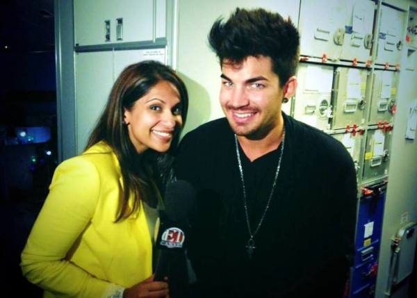 Interview will be on Monday's @ETCanada: Watch for it Monday RT @sangita_patel ... interviews ... @adamlambert thanks for the chat http://pic.twitter.com/FH5b4oZLEK""
