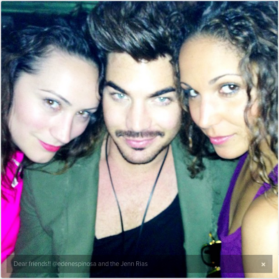 @adamlambert: Dear friends!! @edenespinosa and the Jenn Rias http://instagram.com/p/a45osZONIX/