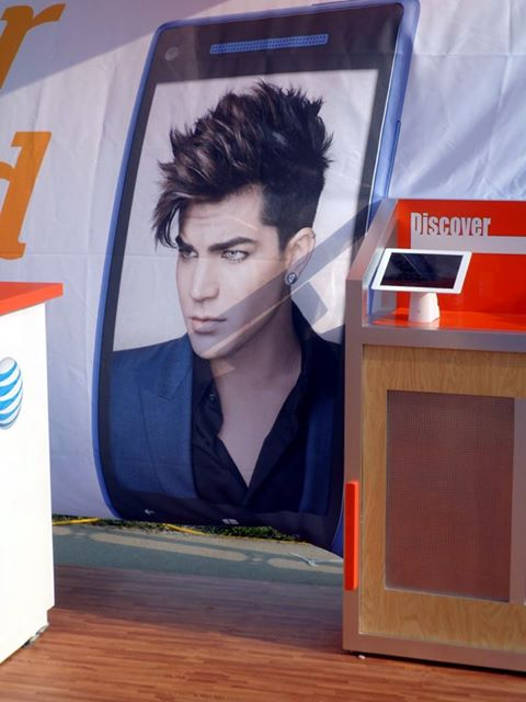 @club721: Adam Lambert AT&T Advertisement Poster at Indy's Gay Pride Festival, Indianapolis, Indiana.