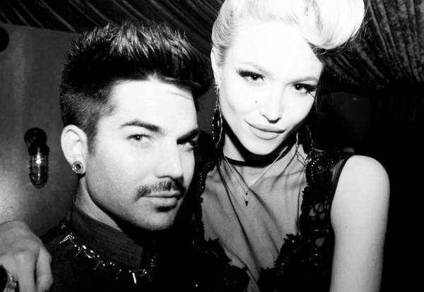 Ivy Levan posts on her Facebook: The Adam to my Eve (photo by: Filip Milicevic) #INTRODUCINGTHEDAME #EPRELEASEPARTY #SAYERSCLUB #HOLLYWOOD — at The Sayers Club.
