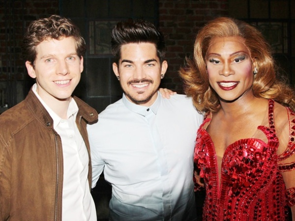 Photo by: Bruce Glikas Stark Sands, Adam Lambert and Billy Porter