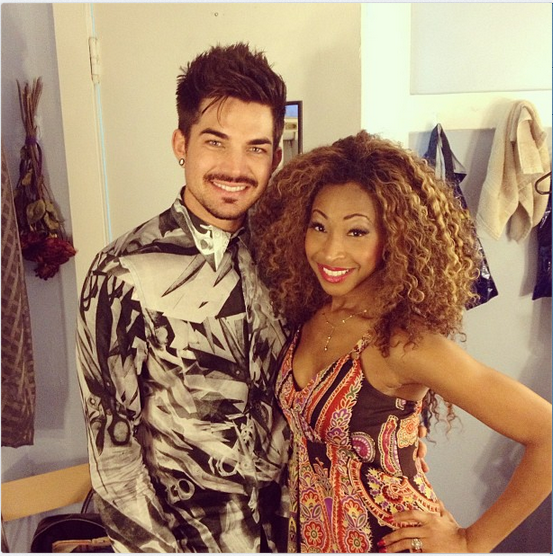 @divankenge Backstage with Adam Lambert @ Motown: The Musical http://instagram.com/p/auZ1BcBxfR/