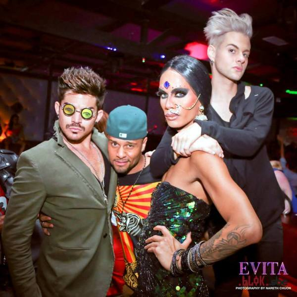 Posted by EVITA on FB from Raja's Birthday Bash on June 11 at Evita/Blok in LA CA. By: Nareth Chuon.