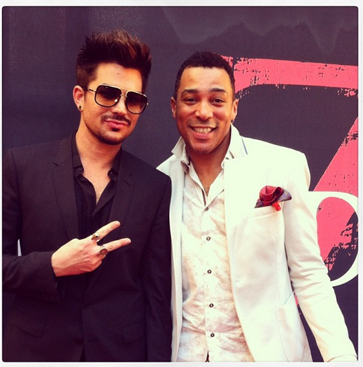 browncharl: Rocking the World War Z red carpet with my buddy @adamlambert