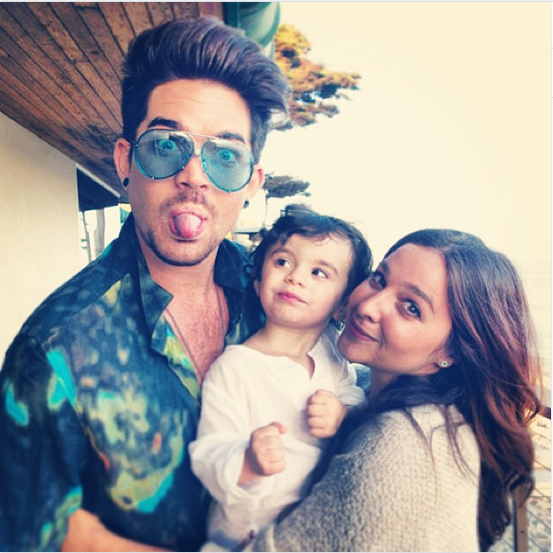 realadamlambert: Riff and his Godparents! @aliaut