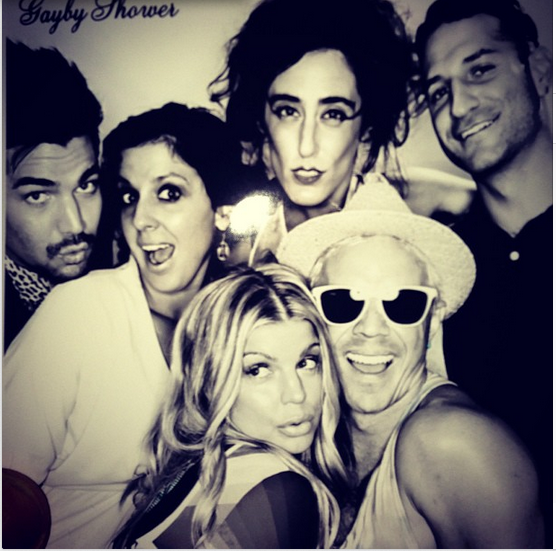 realadamlambert: Hangin w @fergie @jakeshears @ladyfag and friends at Fergie's Gayby Shower