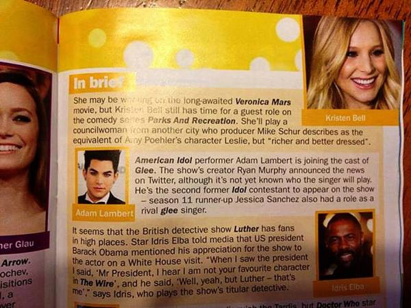 @NZGlitterTribe: Scan of Adam Lambert mention in NZ TV Guide: (Via Adam Lambert's New Zealand Glitter Tribe on FB) http://www.facebook.com/photo.php?fbid=500522886689683&l=91ba21dd8e