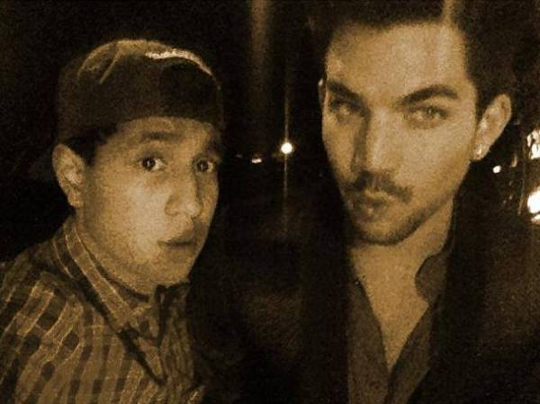 Adam Lambert pic via ziaulislam on Instagram  http://instagram.com/p/dkae32vXvJ/ With the dude @adamlambert nice meeting you man!