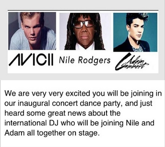 virg1877: Confirmation that Avicii will be on stage with Nile Rodgers & Adam Lambert at AFTEE event August 19 At The Hamptons Riverhead NY USA ticket info on line at AFTEE. org #NileRodgers #AdamLambert #Avicii #AFTEE #Chic #LayMeDown