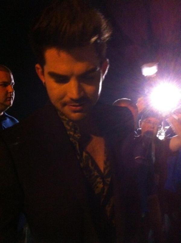 Adam signing after the show via @NYHome on Twitter