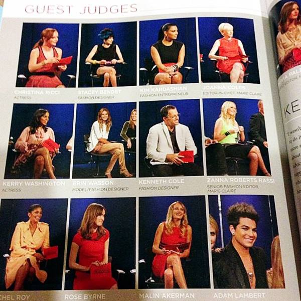 @alalwayz: #adamlambert featured on guest judges page #projectrunwaybook Project Runway: The Show That Changed Fashion [Paperback] http://instagram.com/p/cxpWSbs7VX/